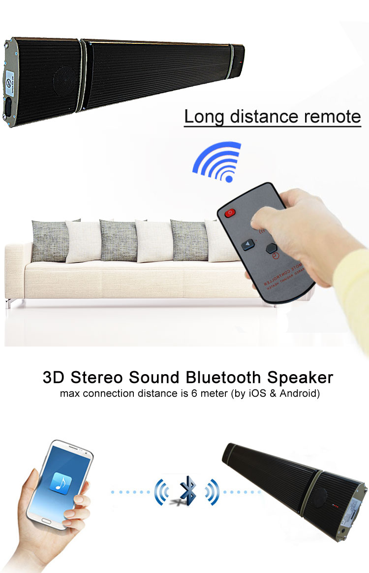 bluetooth speaker infrared heater