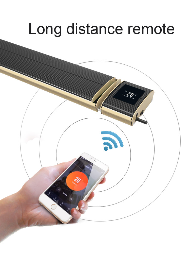 Wireless control heater